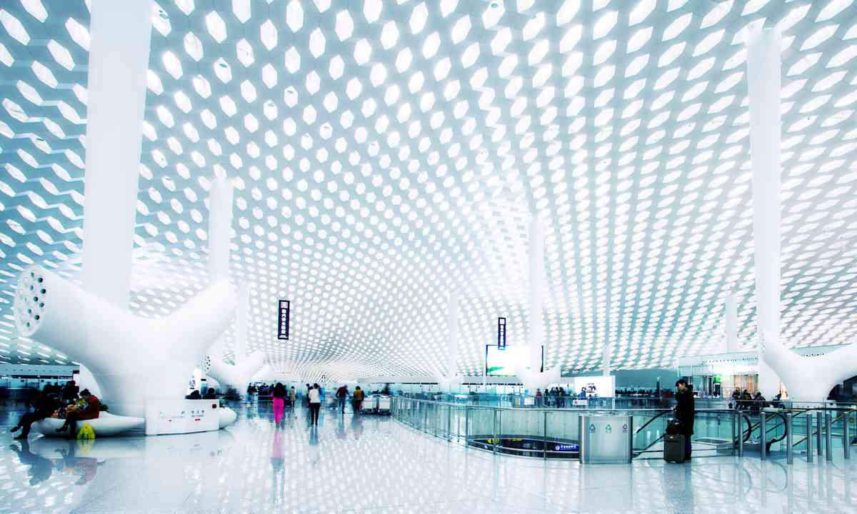 The gleaming white interior of Shenzen International (Dreamstime)