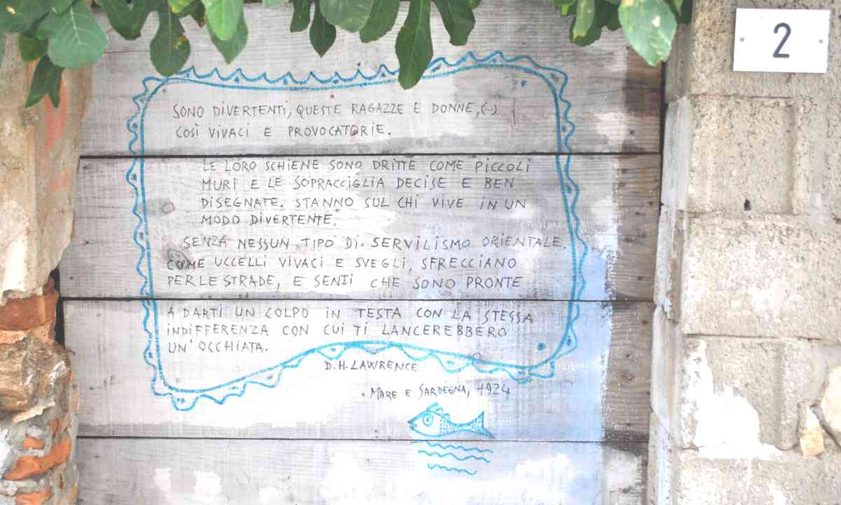 Poem on a wall in Posada (Rosanna Ley)