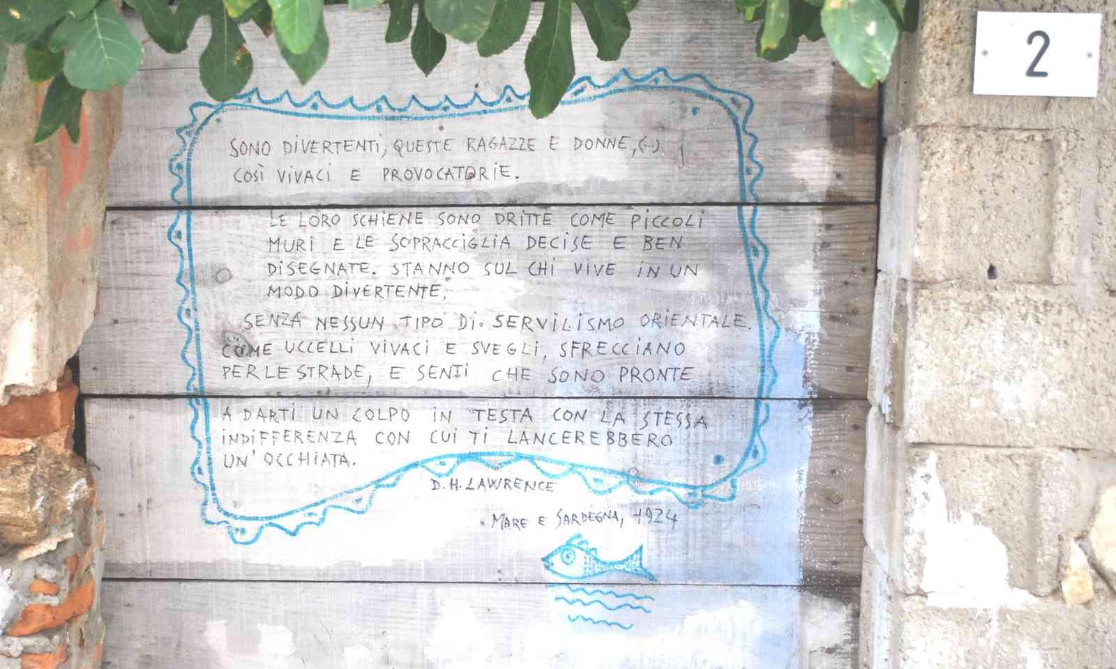 Poem on a wall in Posada (Rosanna Ley)