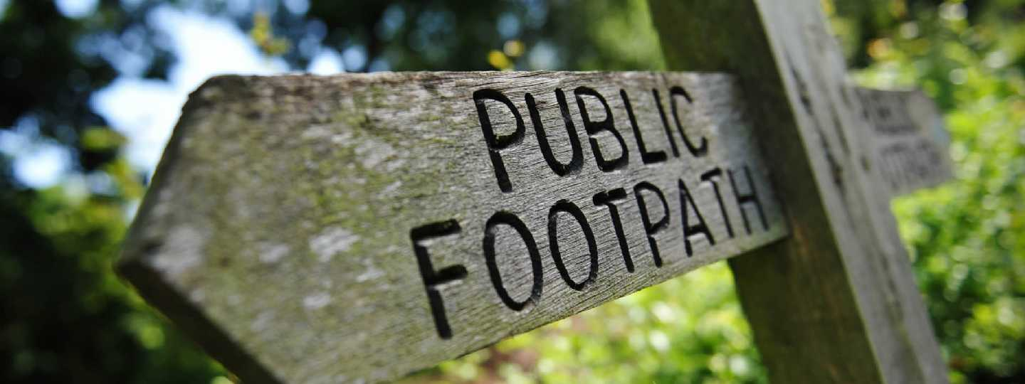 Public footpath sign (Shutterstock)