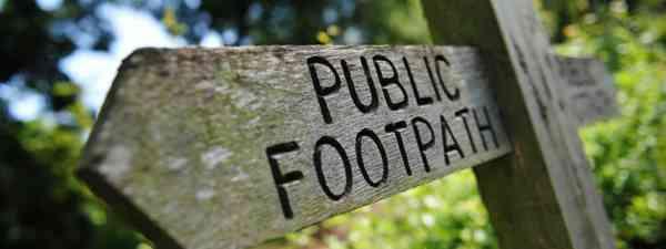 Public footpath sign (Shutterstock)