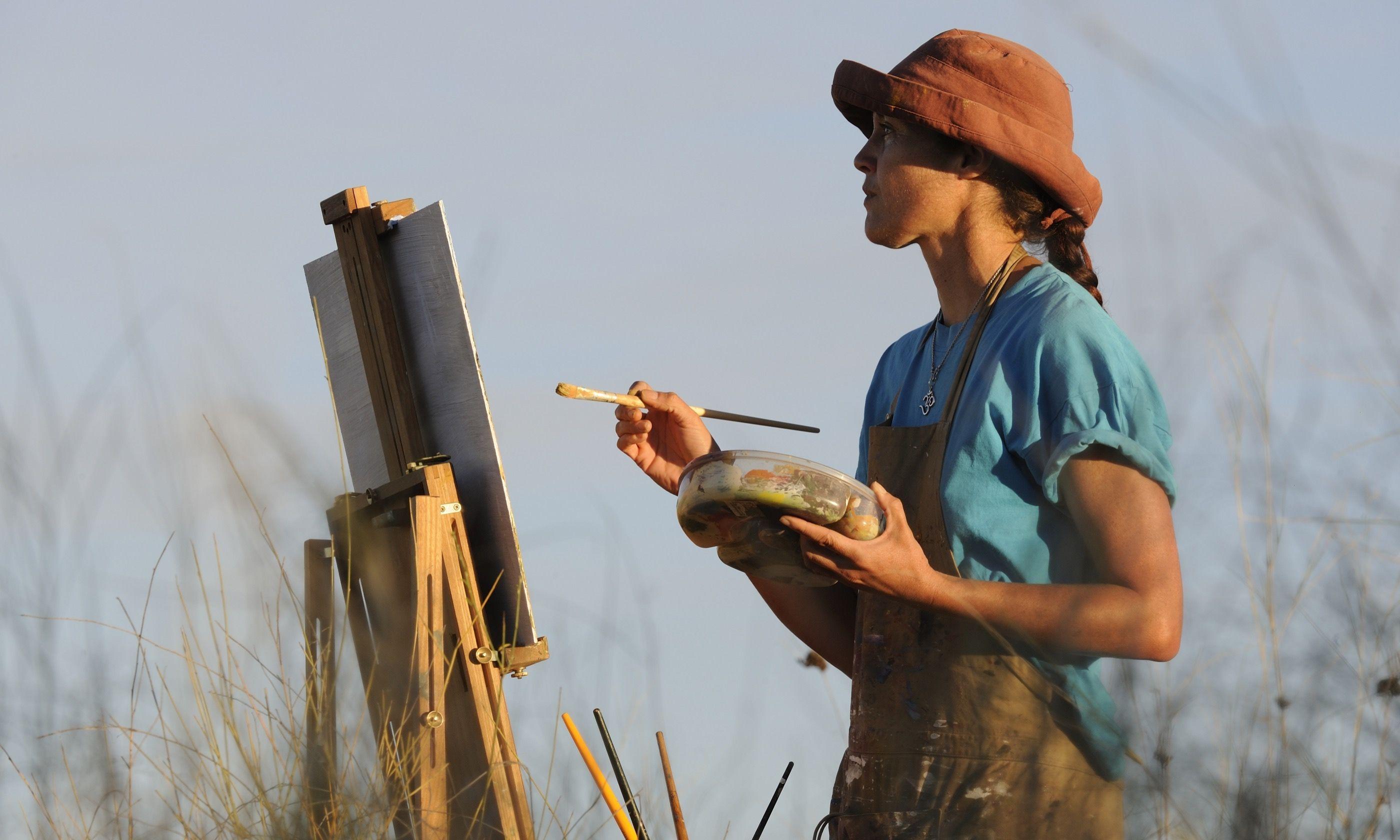 Painting a landscape (Shutterstock.com)