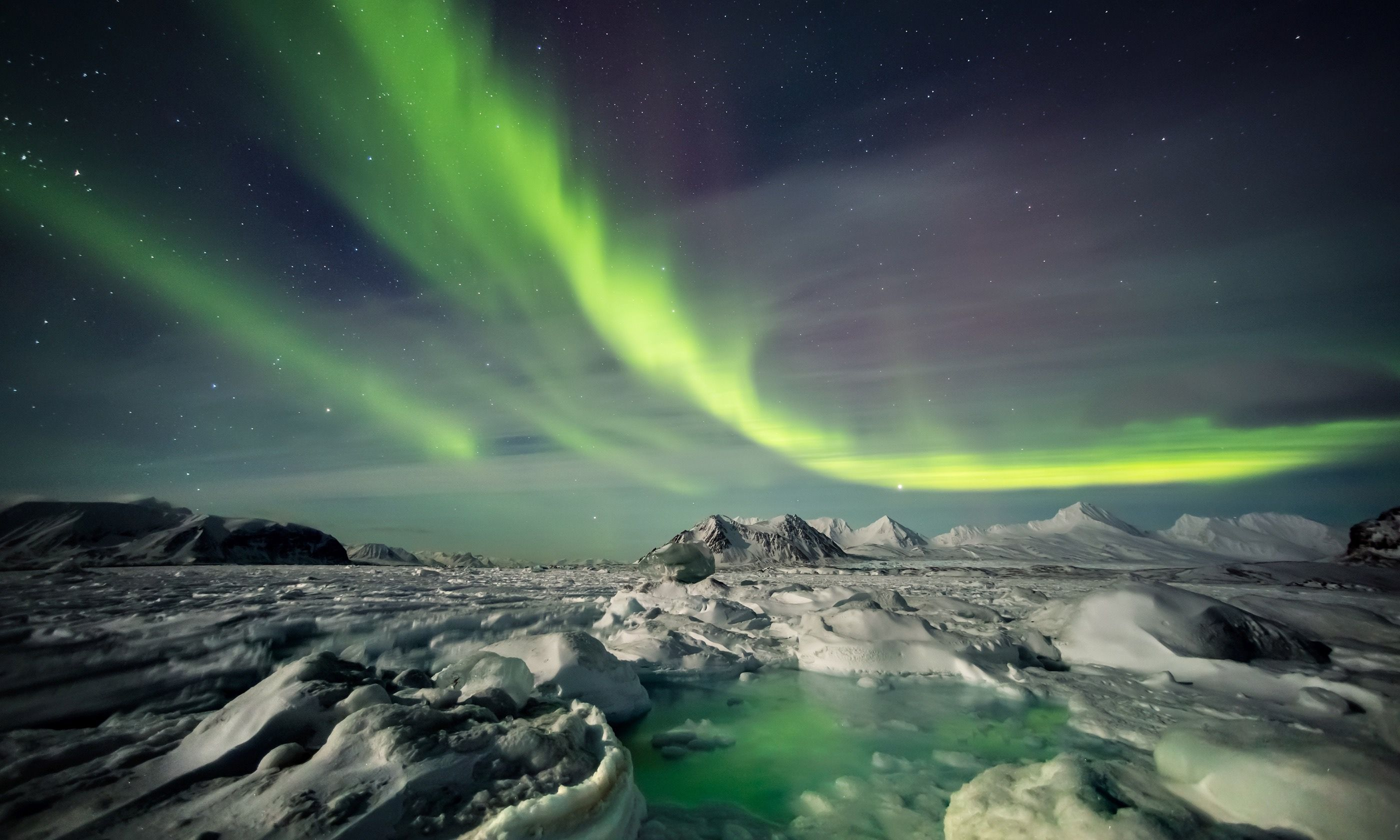 Northern Lights over the Arctic (Shutterstock.com)