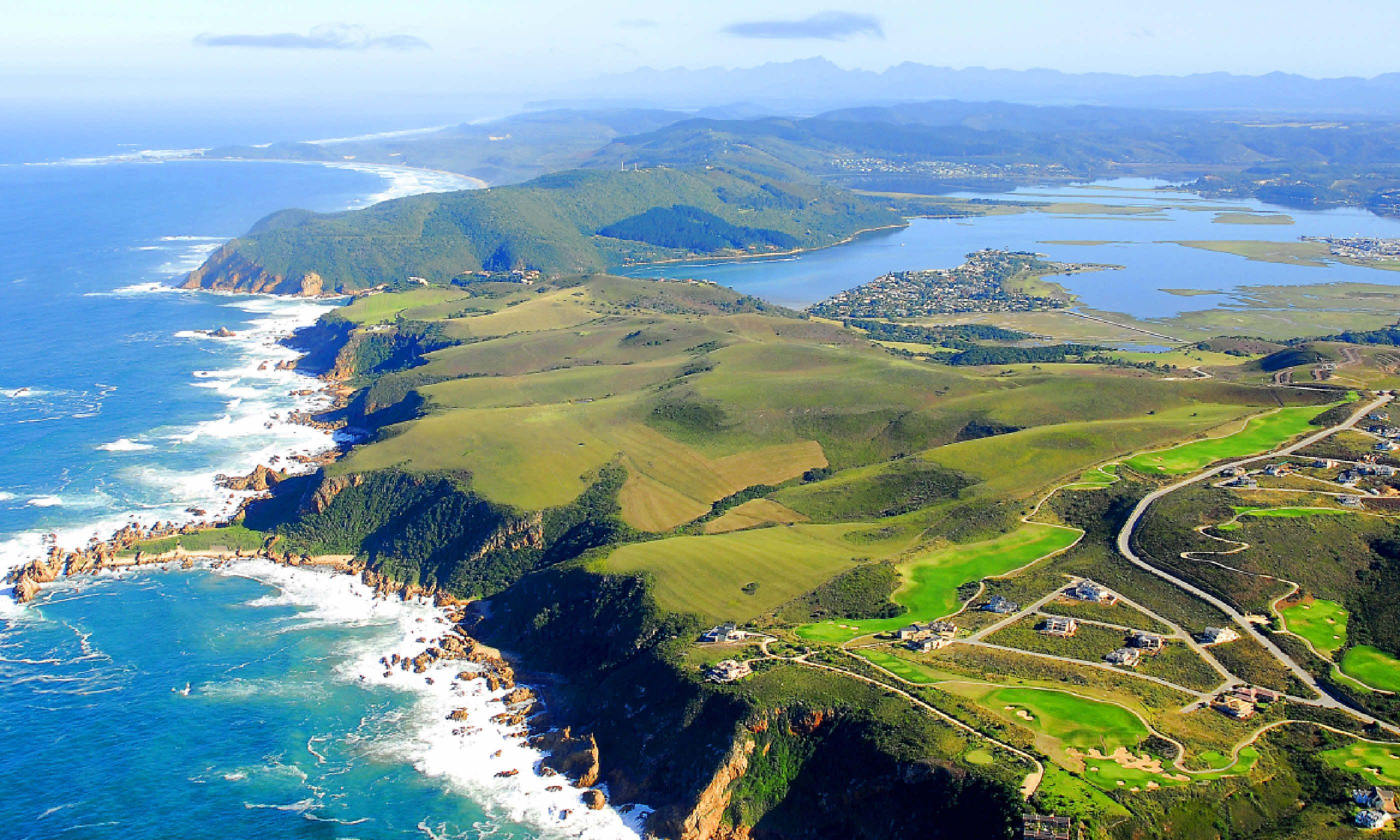 Aerial Shot of Knysna in the Garden Route, South Africa (Shutterstock)