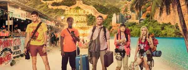 Main image: The cast of Gap Year (Channel Four)