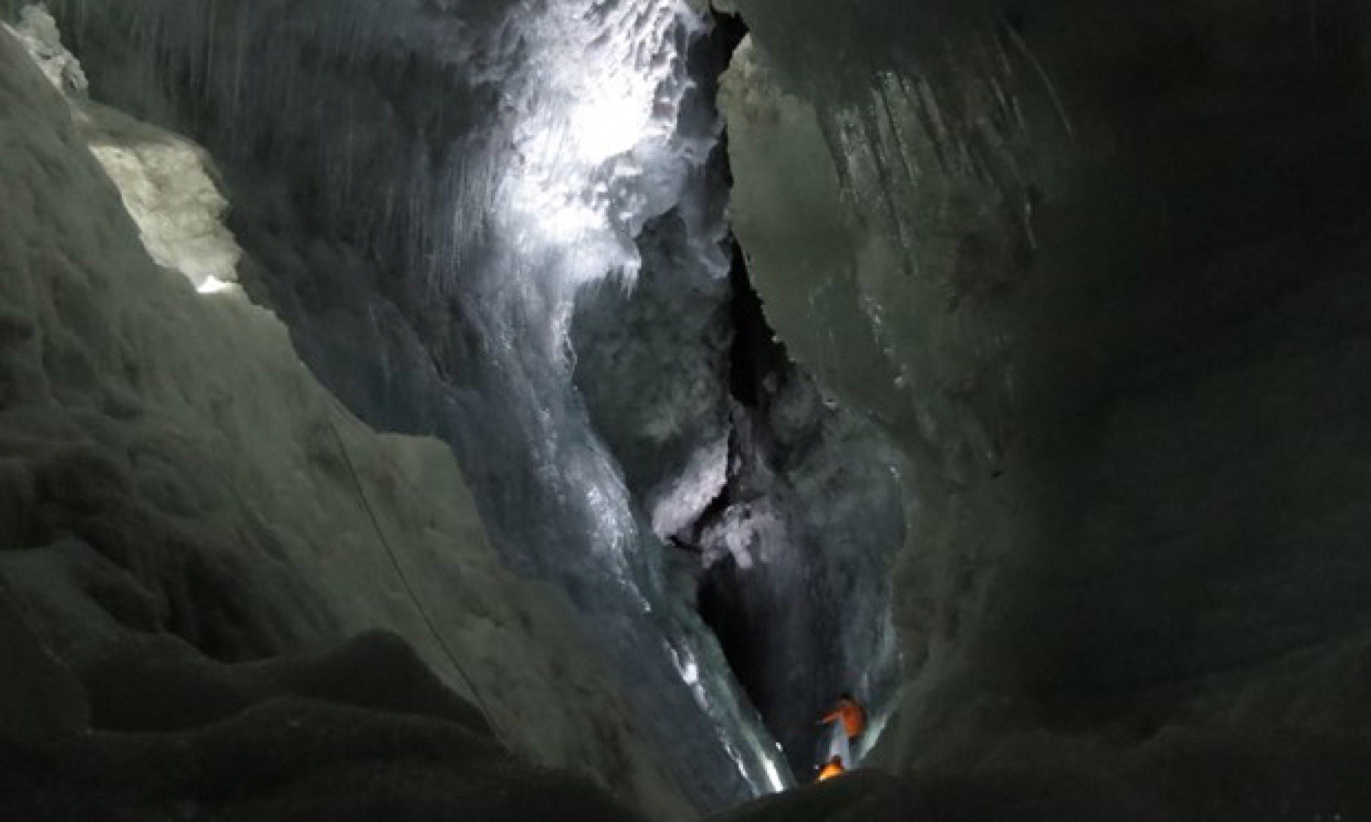 Inside Iceland's Langjökull glacier (Hazel Plush)