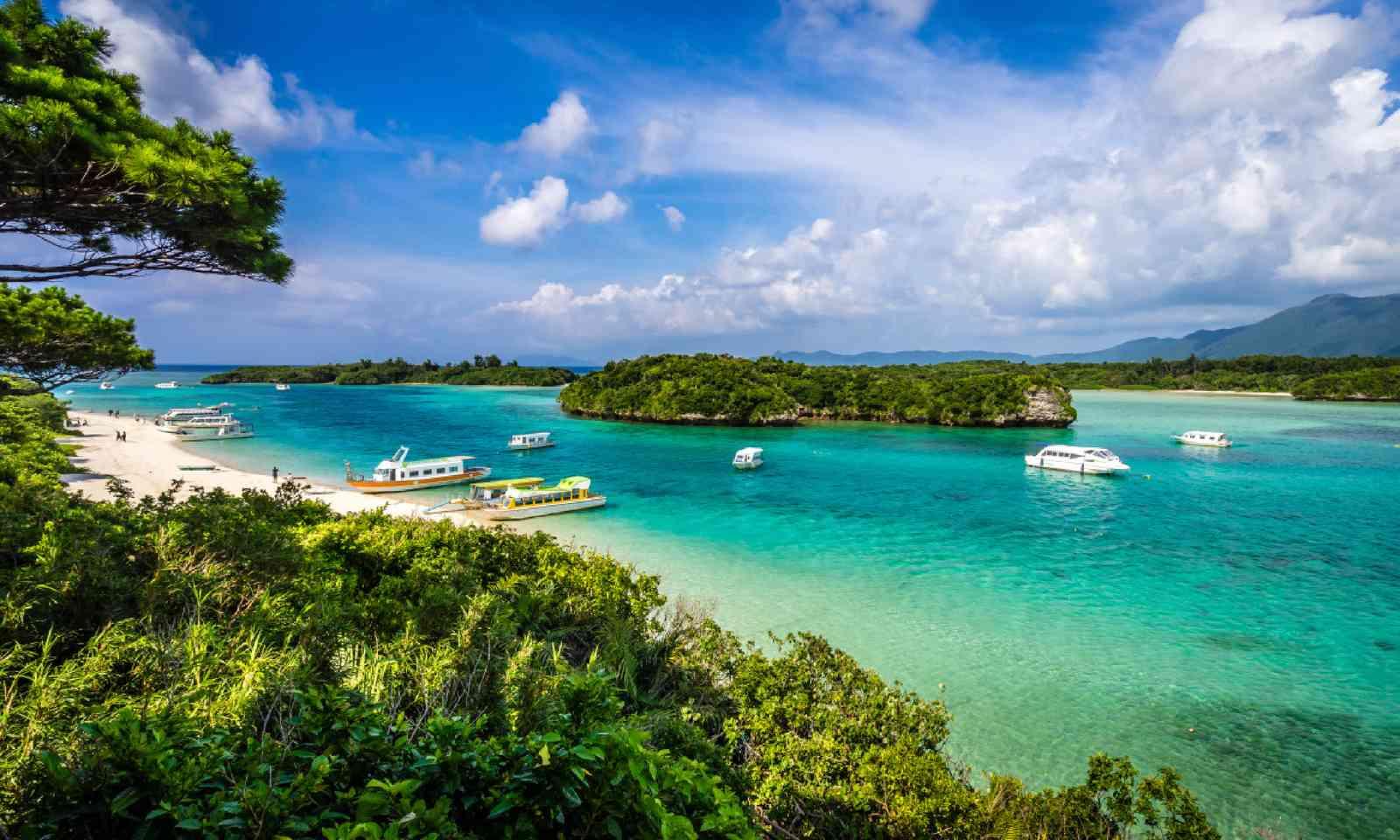 White sand beach at tropical island of Ishigaki Okinawa Japan (Shutterstock)