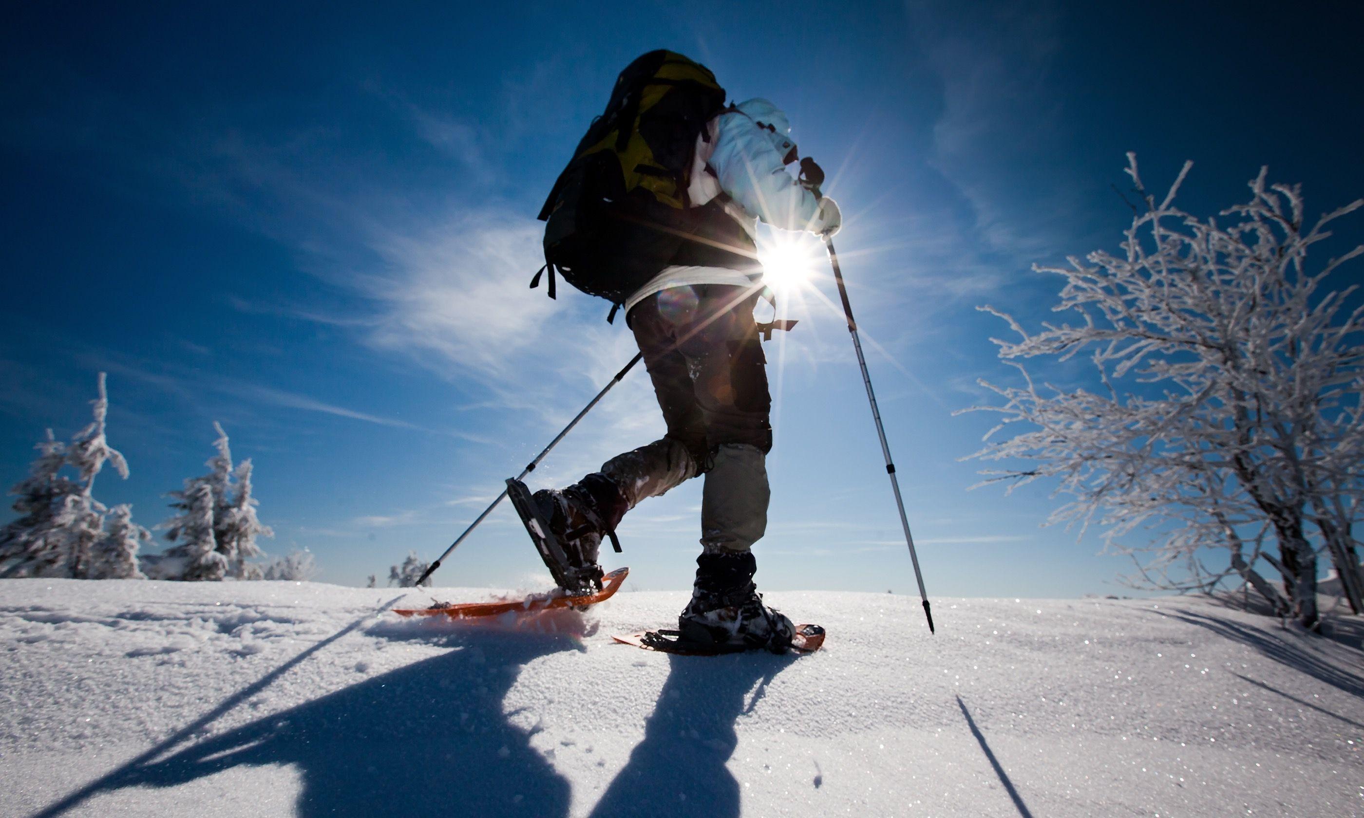 Sunburst on the snow (Shutterstock.com)