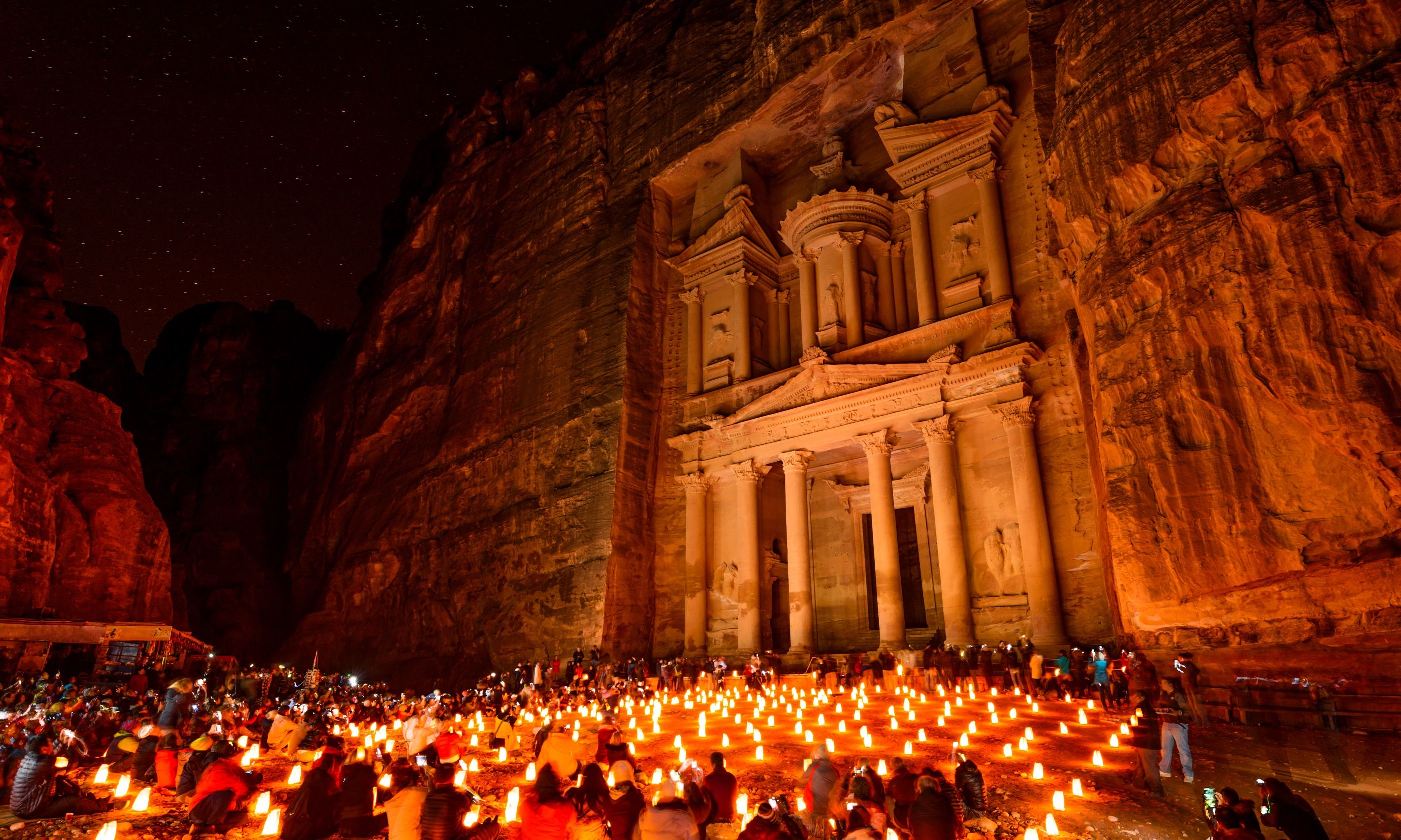 Petra Treasury at night (Shutterstock.com)