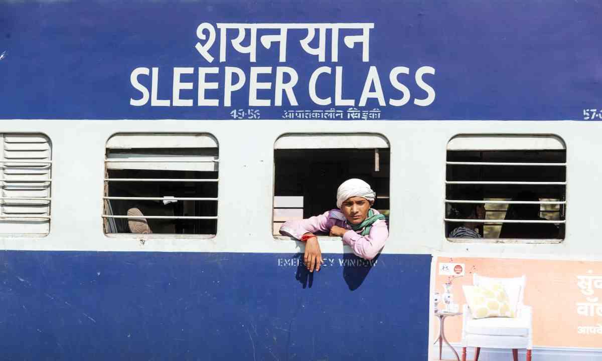 Sleeper class train, India (Shutterstock.com)