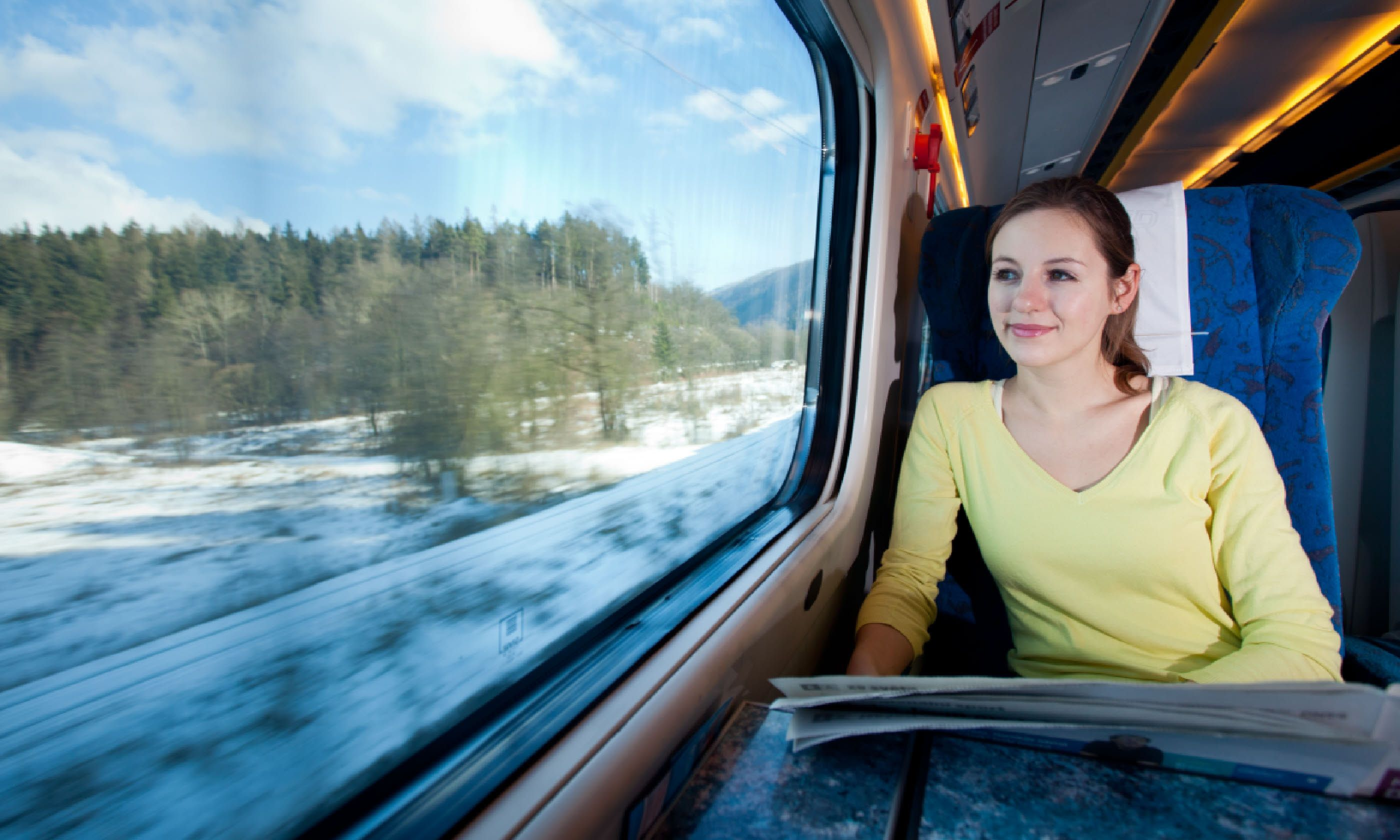 Travelling by train (Shutterstock)