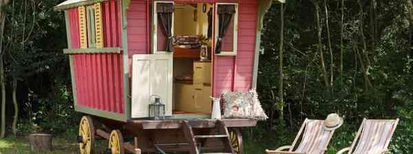 Gypsy wagon at Secret Meadows, Cool Camping