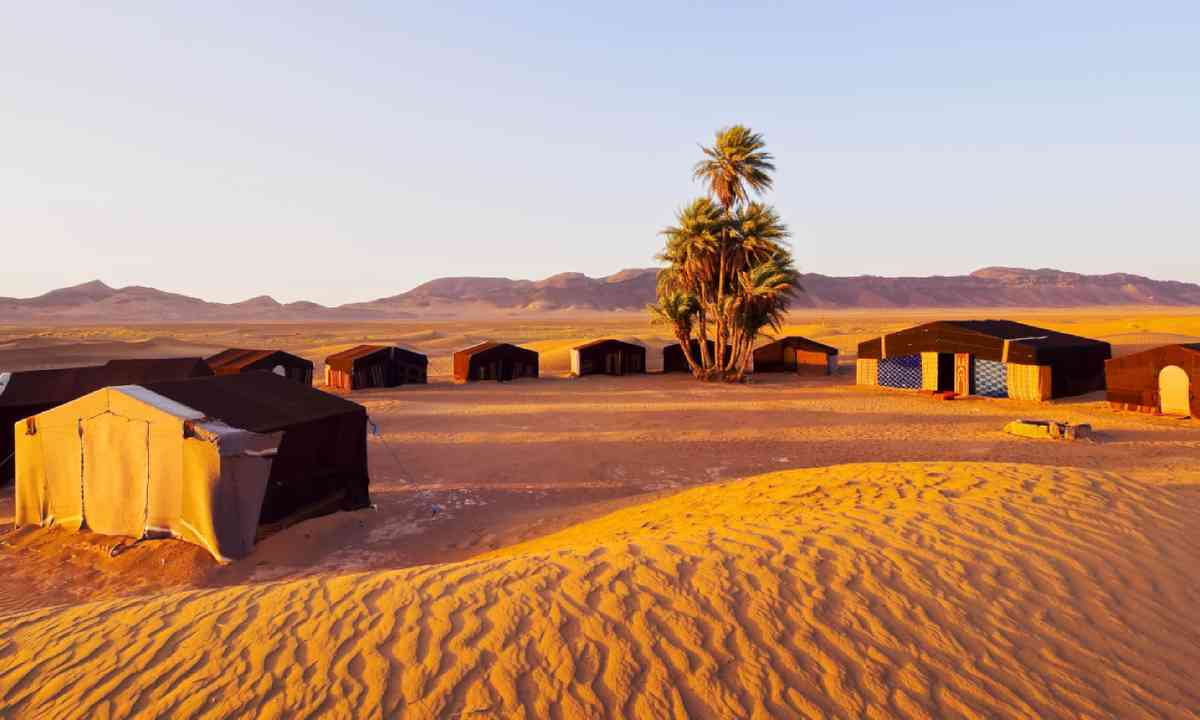 Camp on Zagora desert, Morocco (Shutterstock)