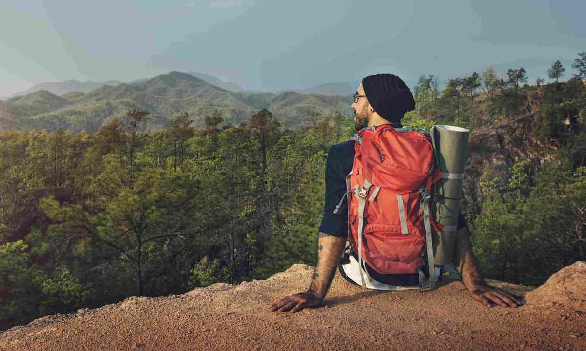 Male backpacker admiring the view (Shutterstock)