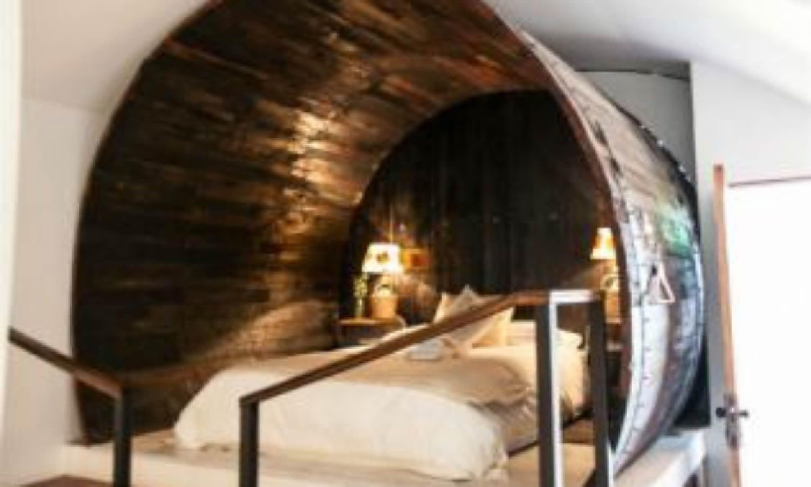 Gigantic wine barrel in Chile