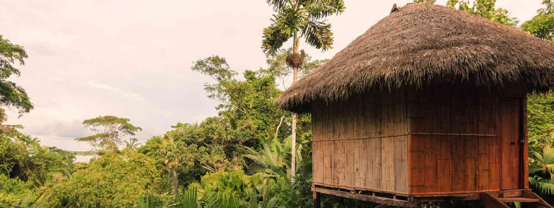Bamboo Lodge In National Park Yasuni, South America (Shutterstock)