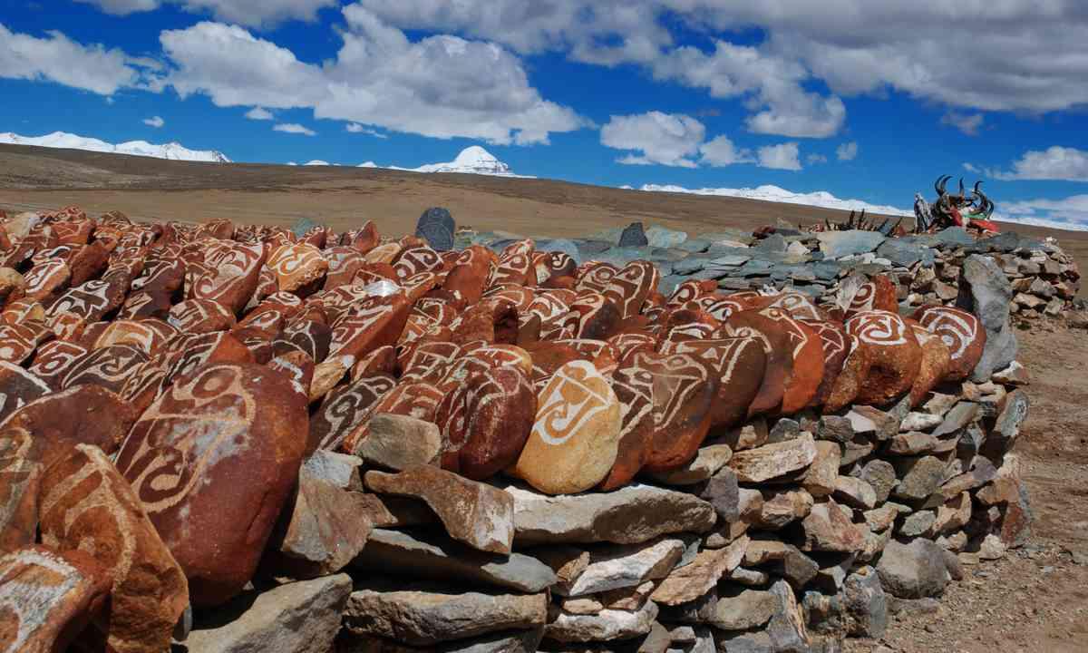Mani piles on Mt Kailash (Dreamstime)