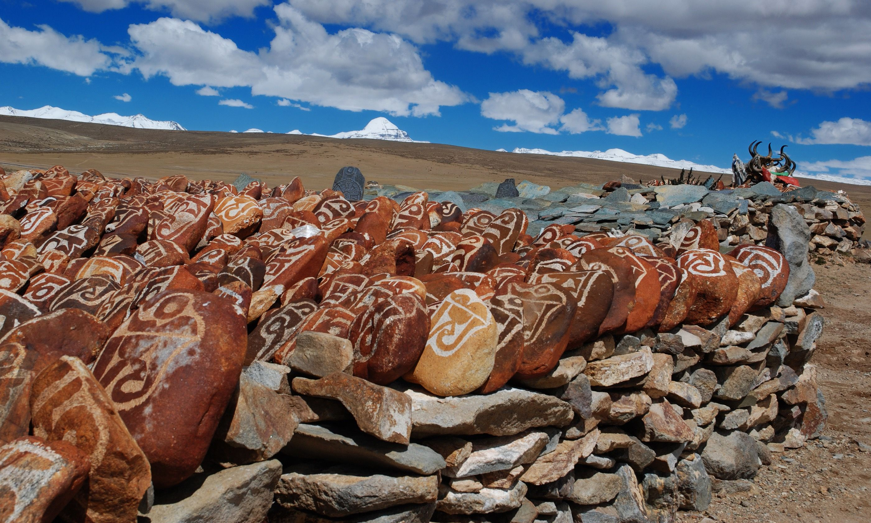 Mani piles on Mt Kailash (Dreamstime)