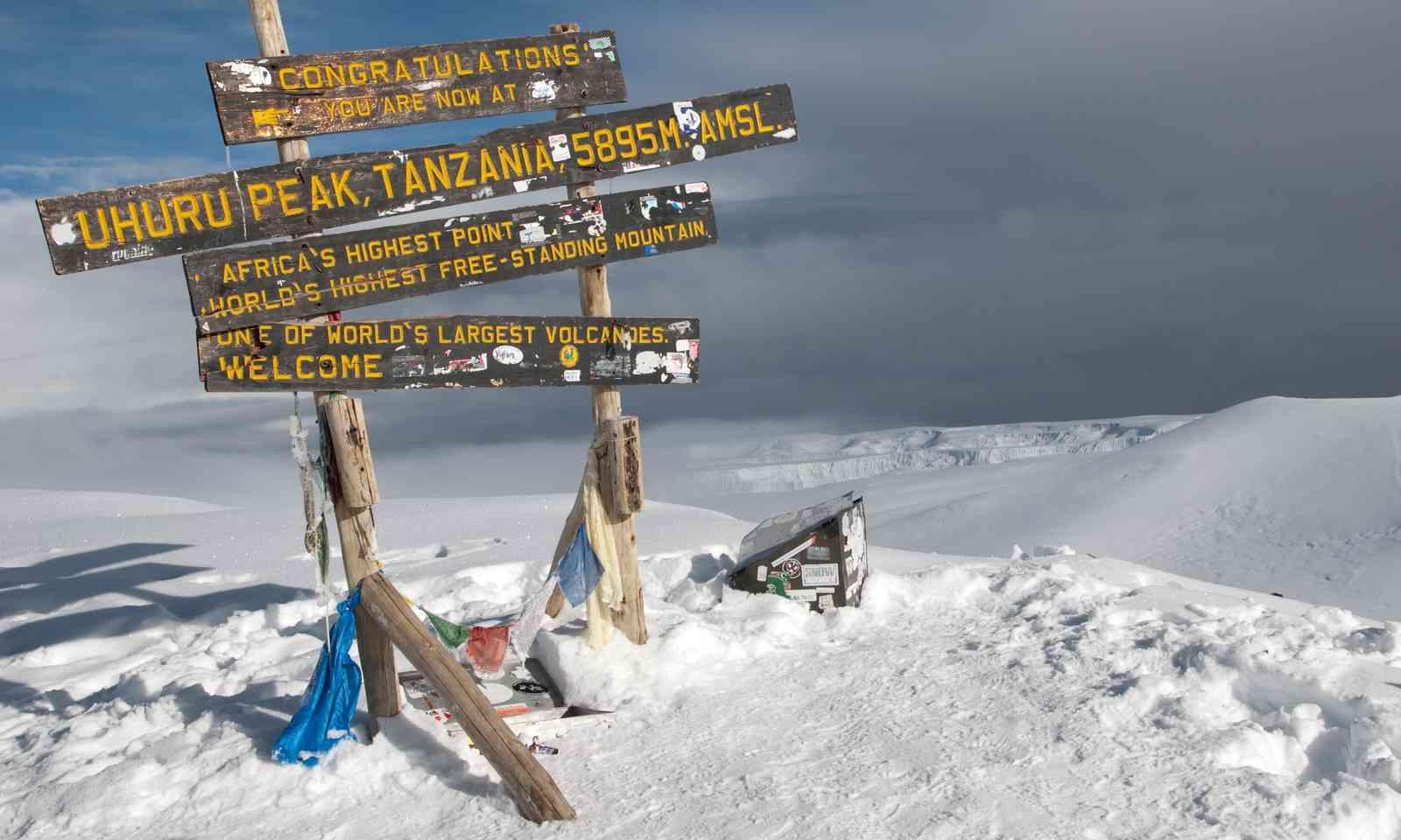 The top of Mount Kilimanjaro (Shutterstock.com)