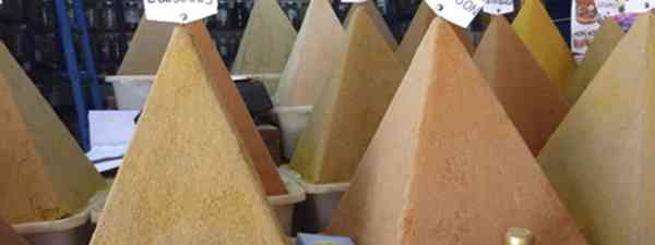 Unfortunately not magic, but glue and stuffing helps these spice pyramids stand up (Marie Javins)