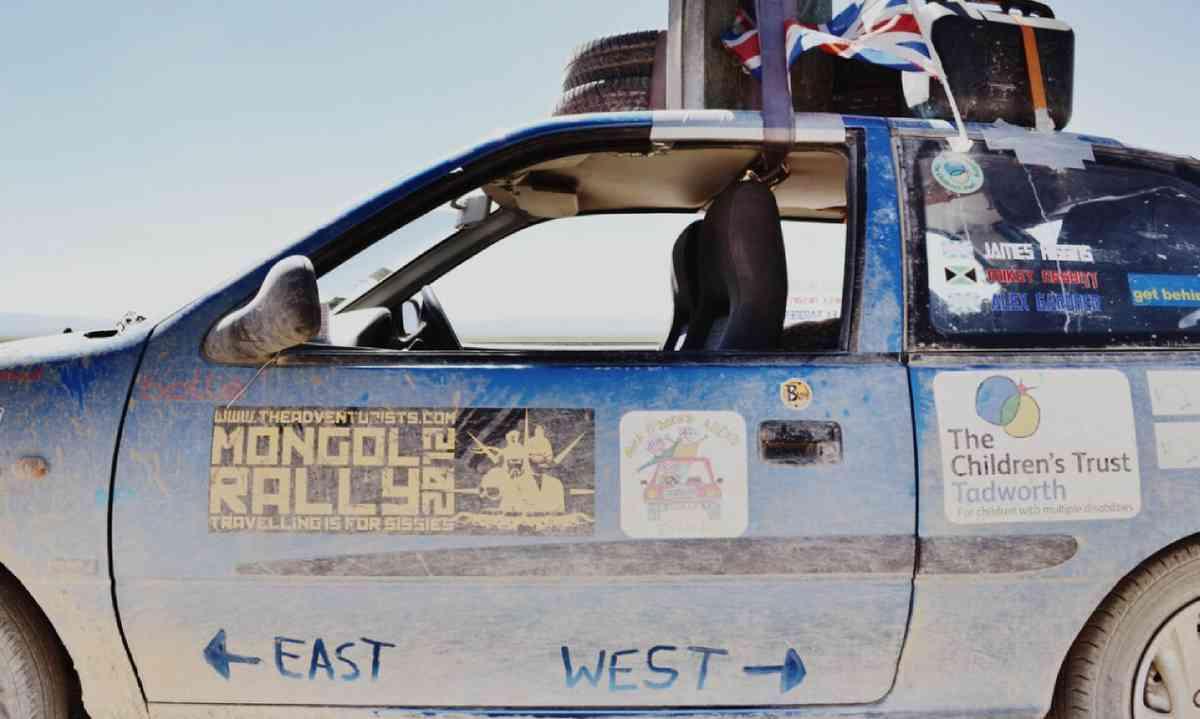 Mongol Rally vehicle (James Higgins)