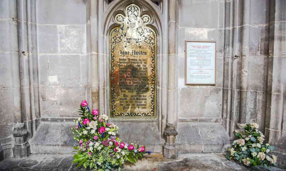 The memorial plaque in Winchester Cathedral (Dreamstime)