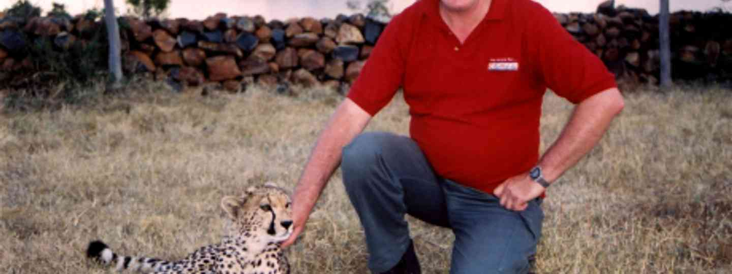 Duncan Yearley and a cheetah