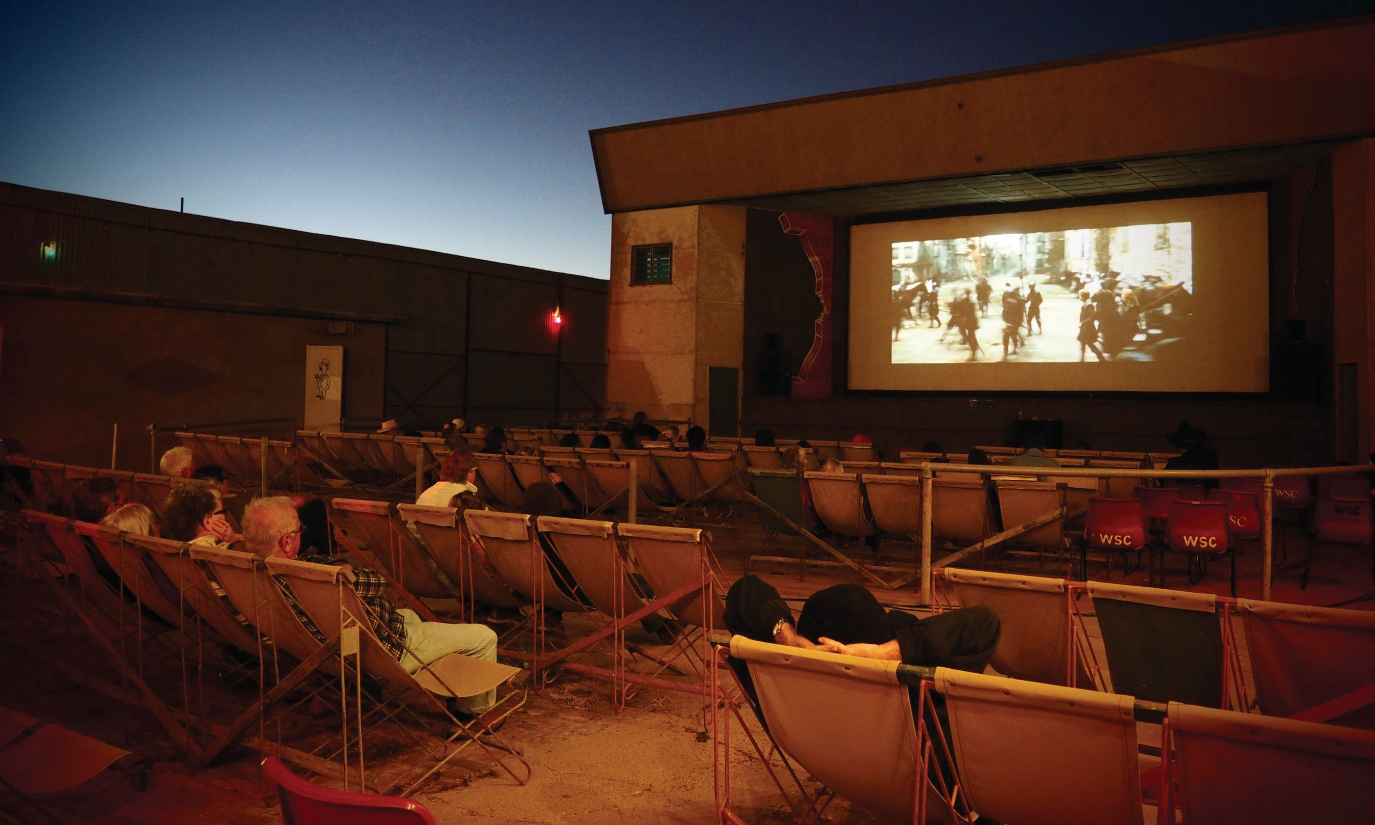 Outdoor cinema in Winton (Tourism & Events Queensland)