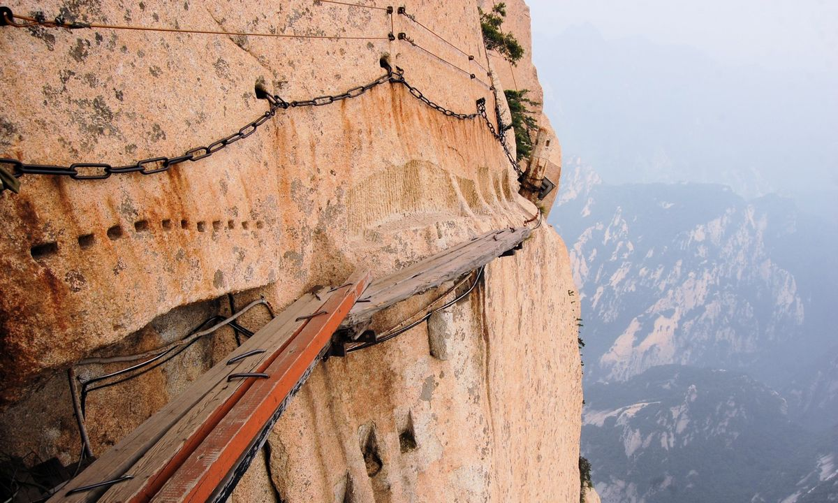 The walkway on Mount Hua (Shutterstock.com)