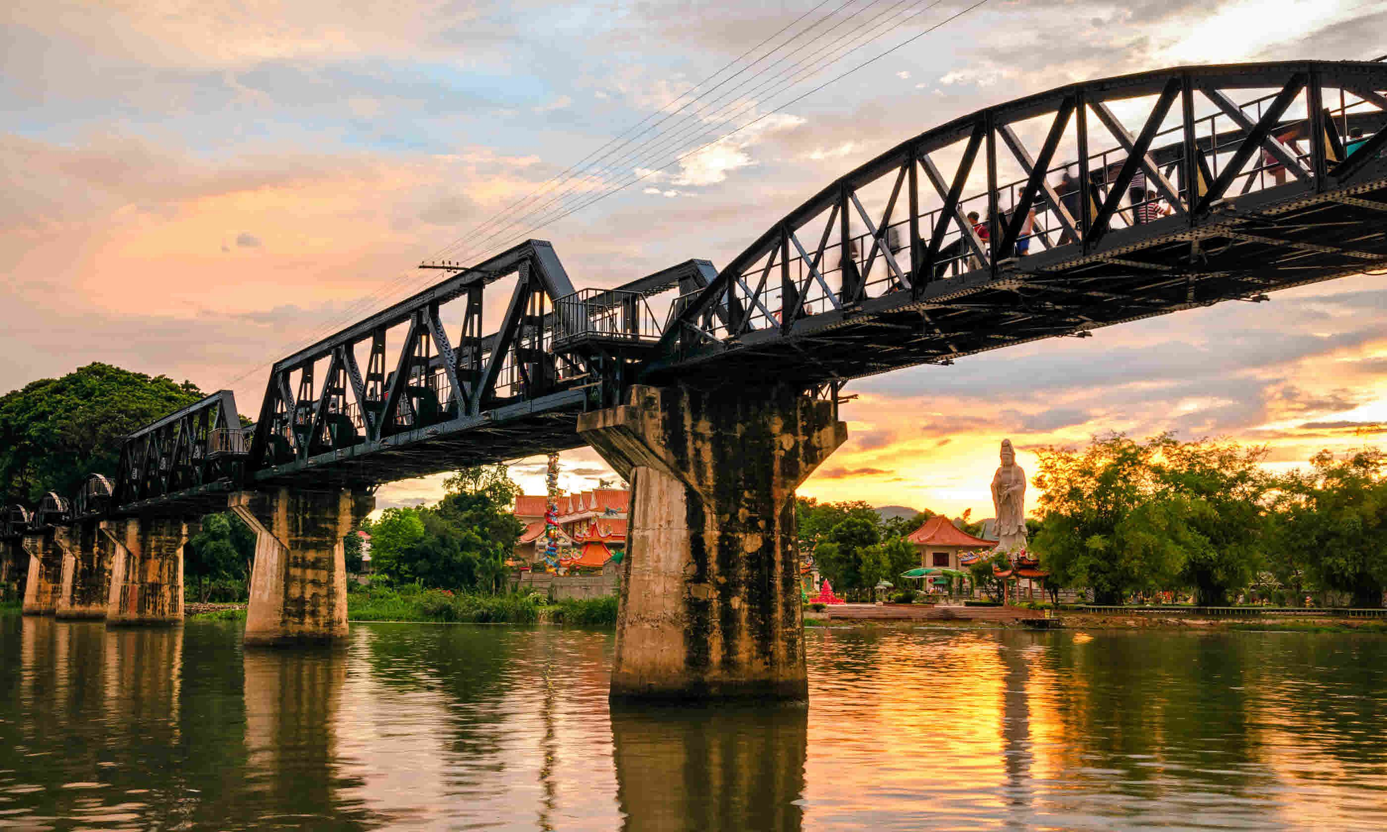 The bridge over the River Kwai, Thailand (Shutterstock)