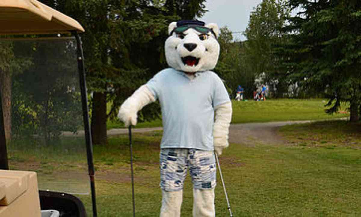 Midnight golfer in Fairbanks (Fairbanks Golf Club)
