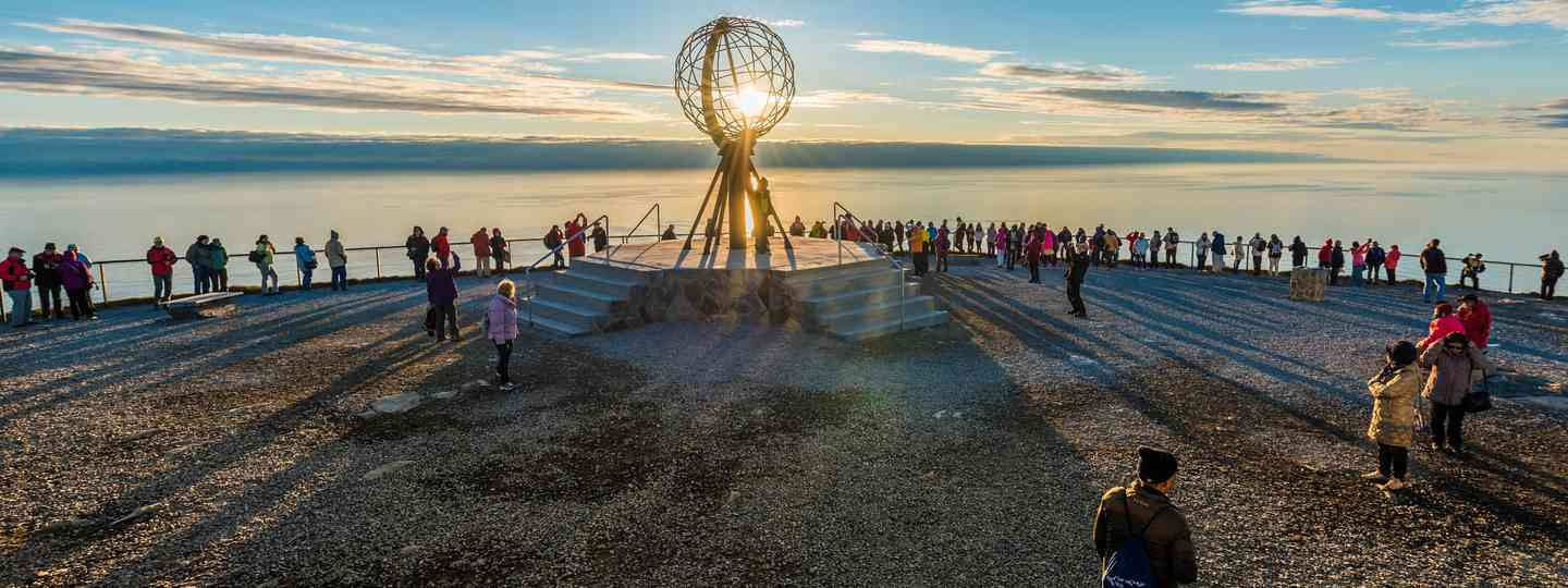 The midnight sun at North Cape, Norway (Shutterstock.com. See main credit below)
