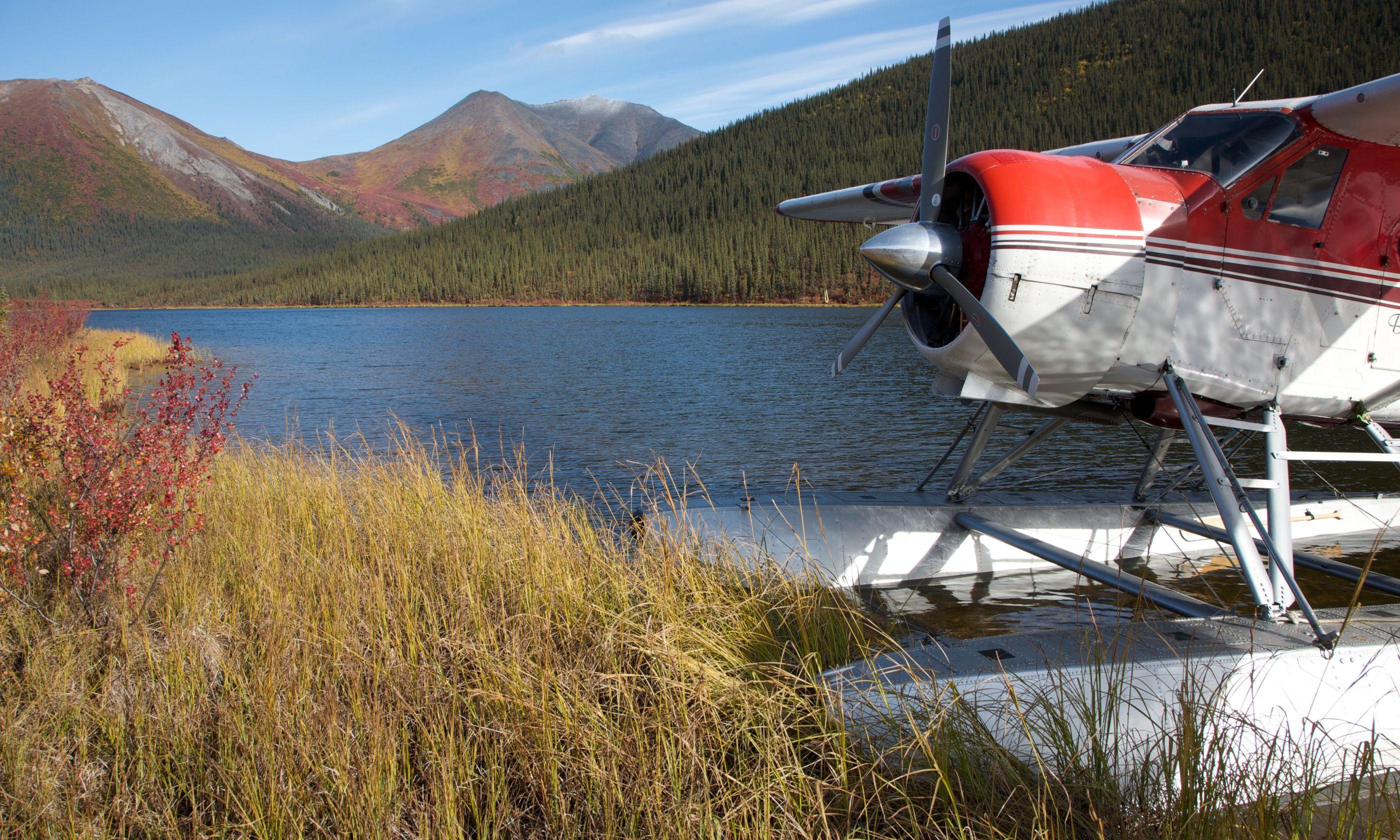 Float plane 'parked' in Alaska (Dreamstime)