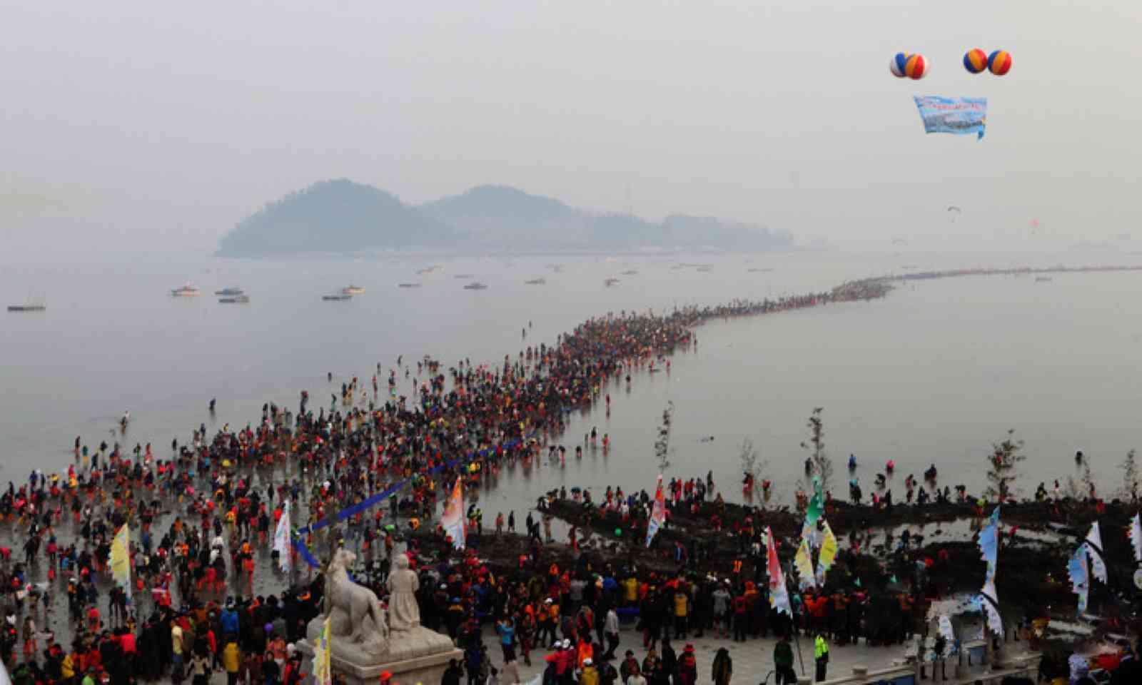 Jindo Miracle Sea Road Festival (Visit Korea)