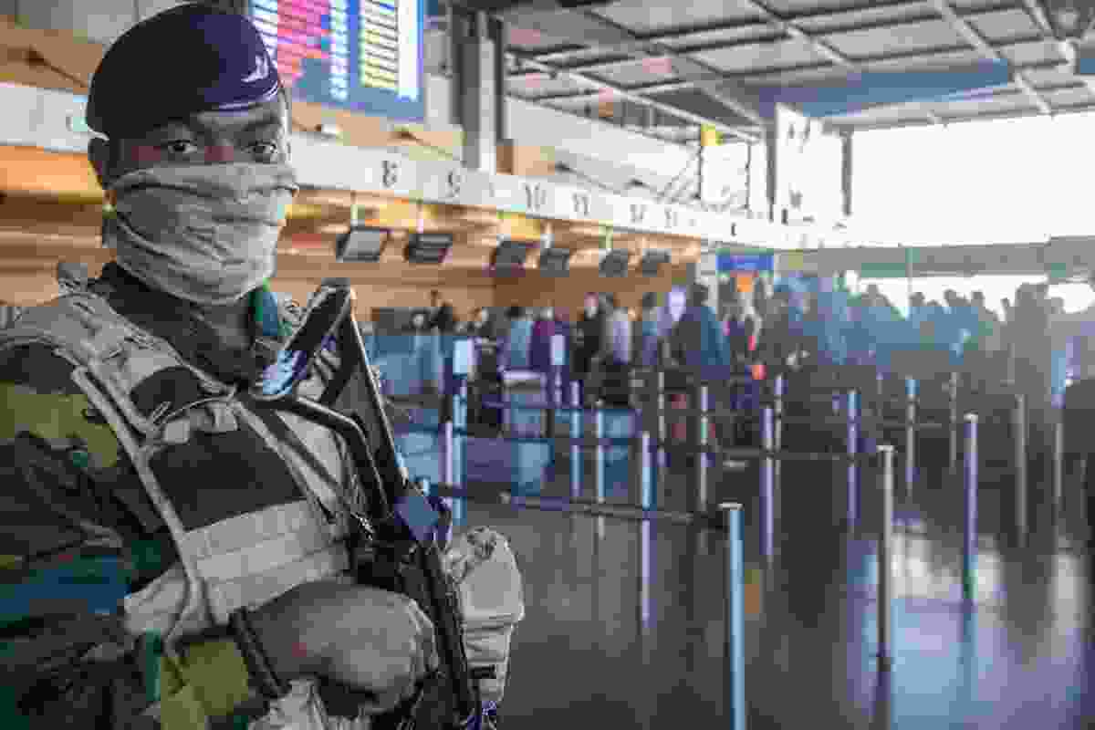 Anti-terror forces at Charleroi Airport in Belgium (Dreamstime)