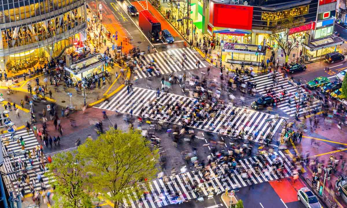 Shibuya crossing, Tokyo (Shutterstock.com)