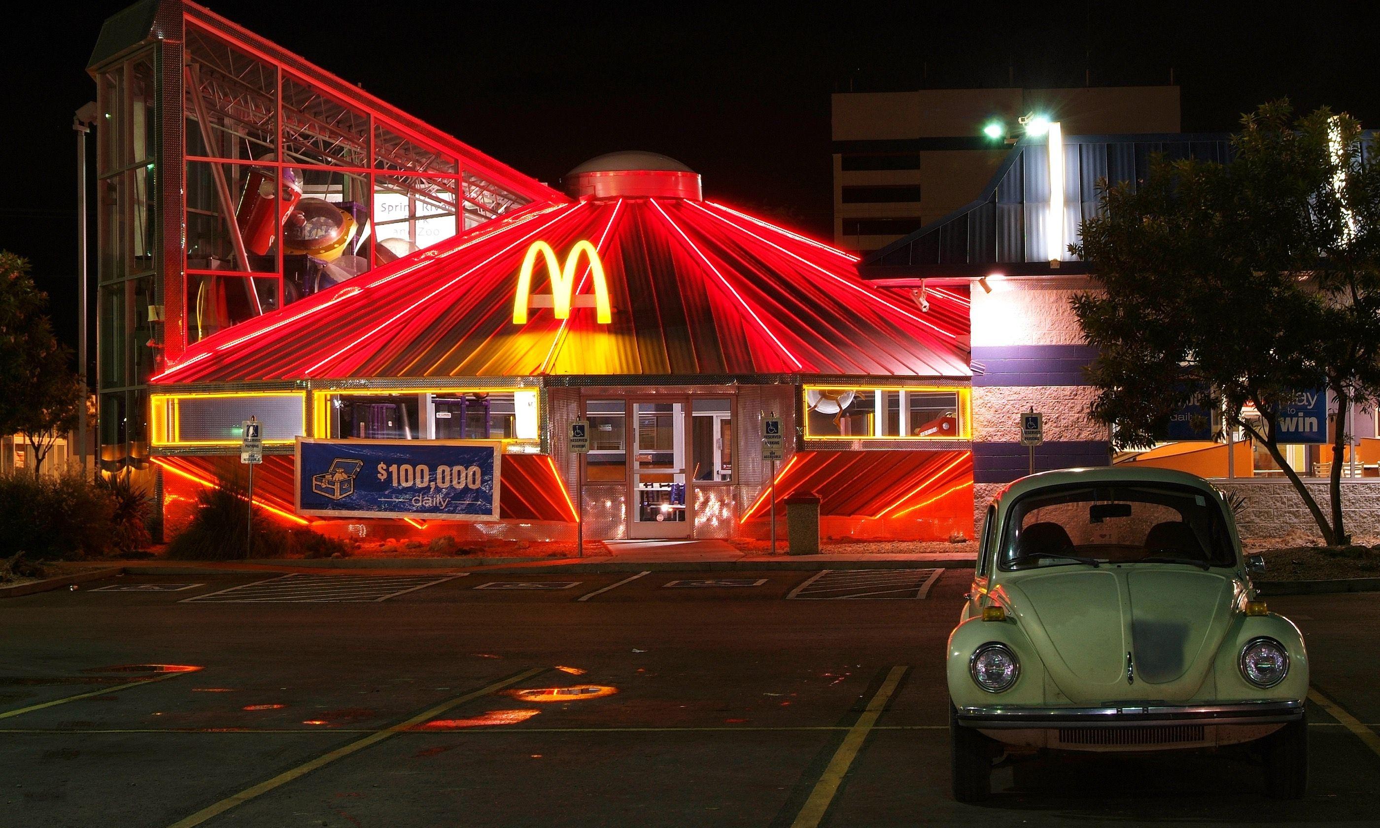 McDonald's in a spaceship (Dreamstime)