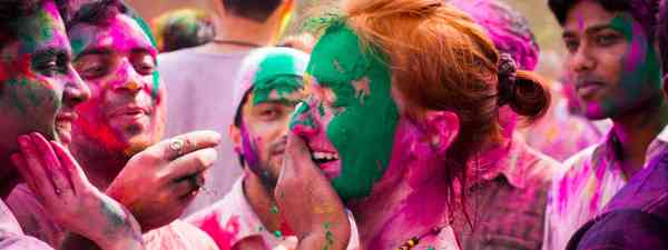 Holi Festival in Delhi, India (Shutterstock)
