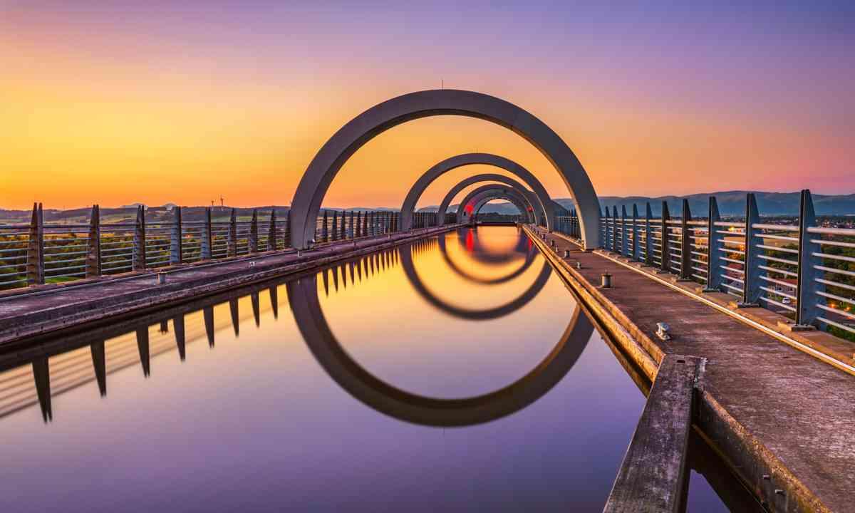 The Falkirk Wheel in the Falkirk Triangle (Dreamstime)