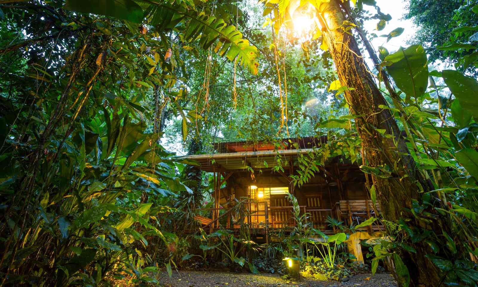 Eco lodge in Costa Rican rainforest (Shutterstock.com)
