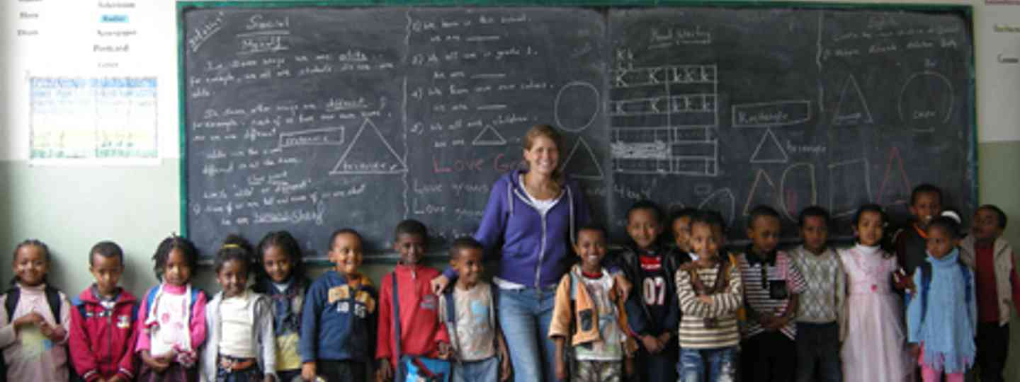 A volunteer in an Ethiopian school (Projects abroad)