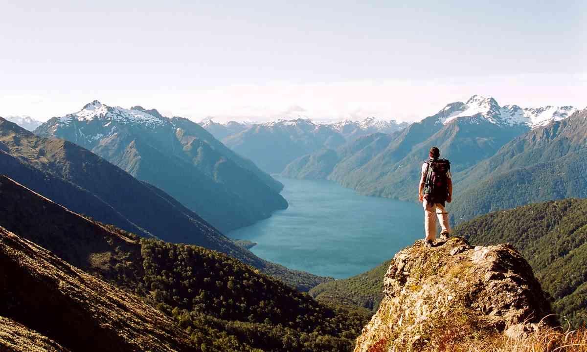 Man on the Kepler Trail in New Zealand (Dreamstime)