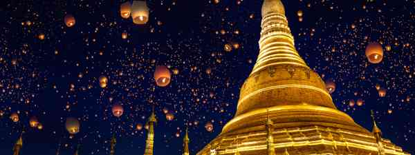 Lanterns over Shwedagon (Shutterstock.com. See main credit below)