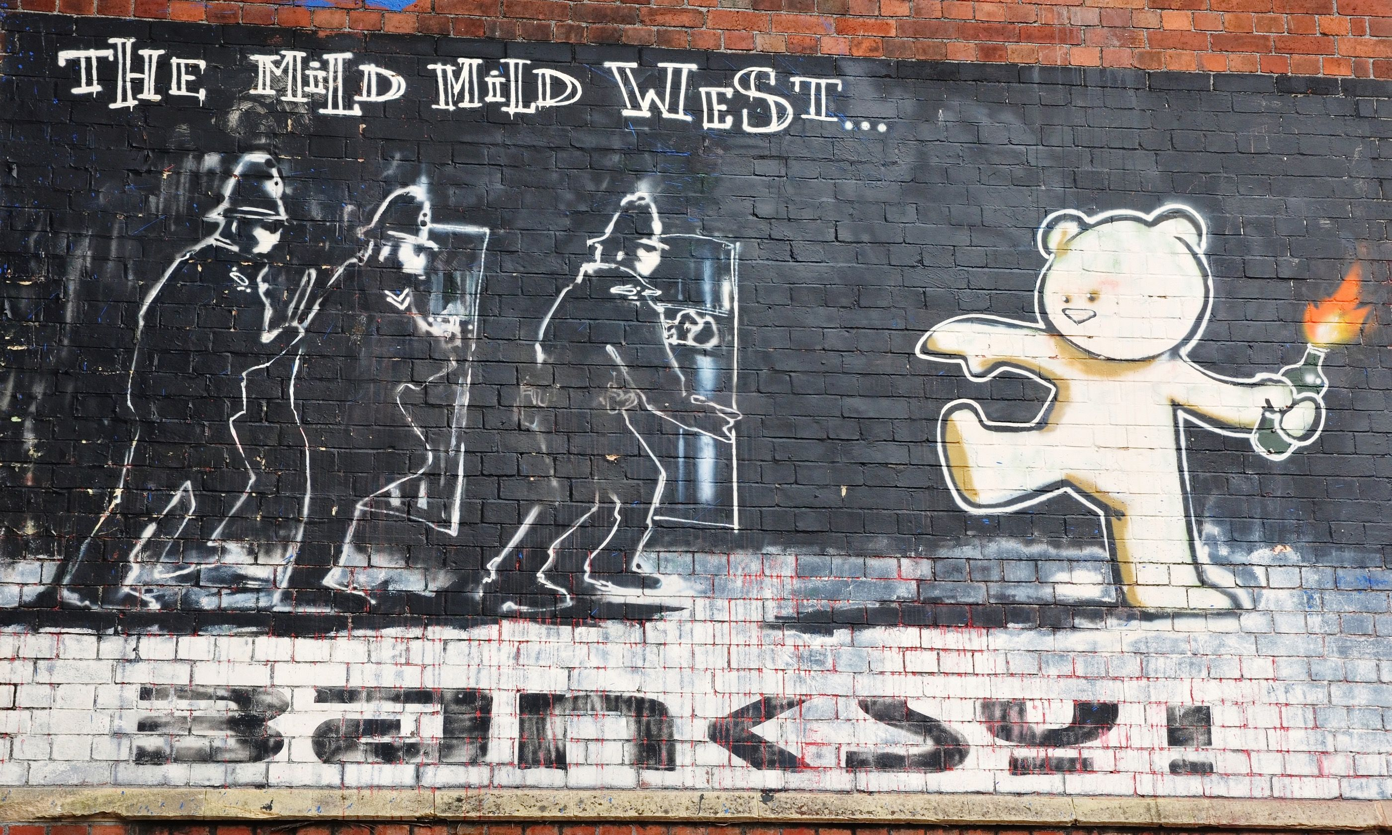 Mild, Mild West mural (Shutterctock.com)