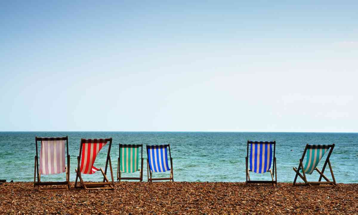 Deckchairs on Brighton beach (Shutterstock.com)