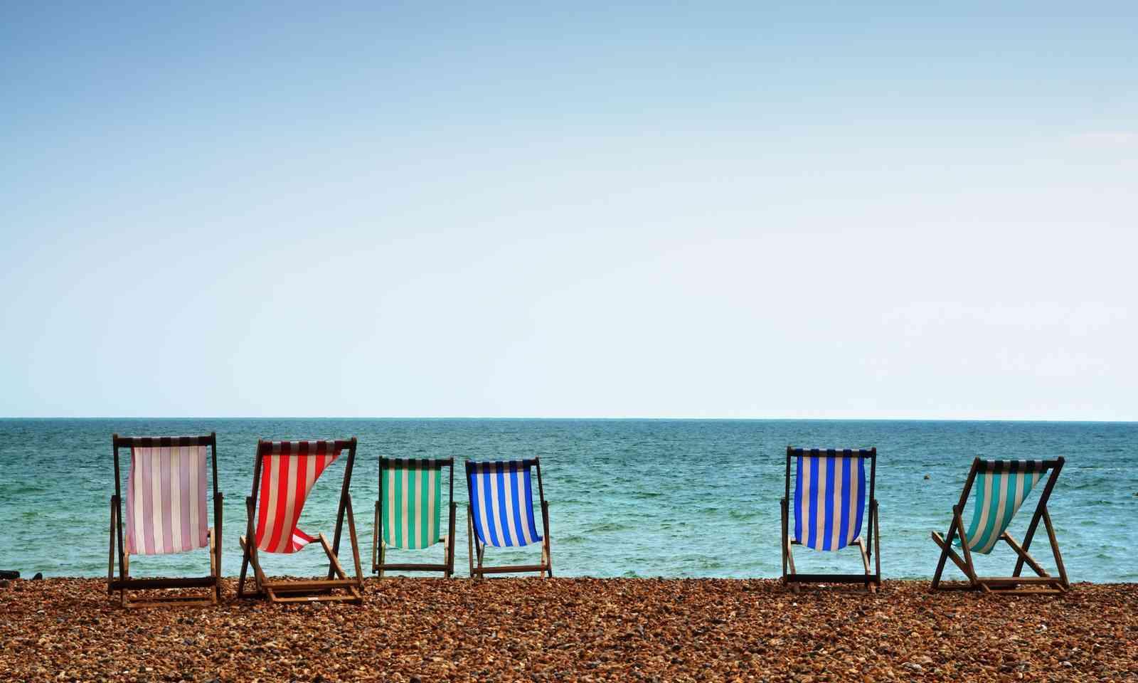 Deckchairs on Brighton beach (Shutterstock.com)