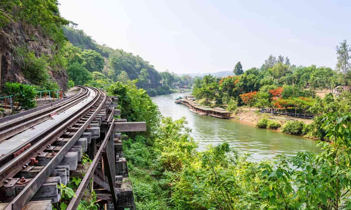 Thai-Burma railway near the River Kwai (Dreamstime)