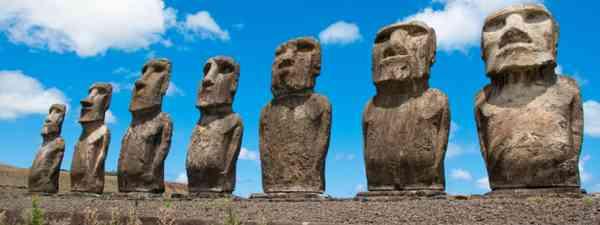 Moais at Ahu Tongariki (Shutterstock: see credit below)