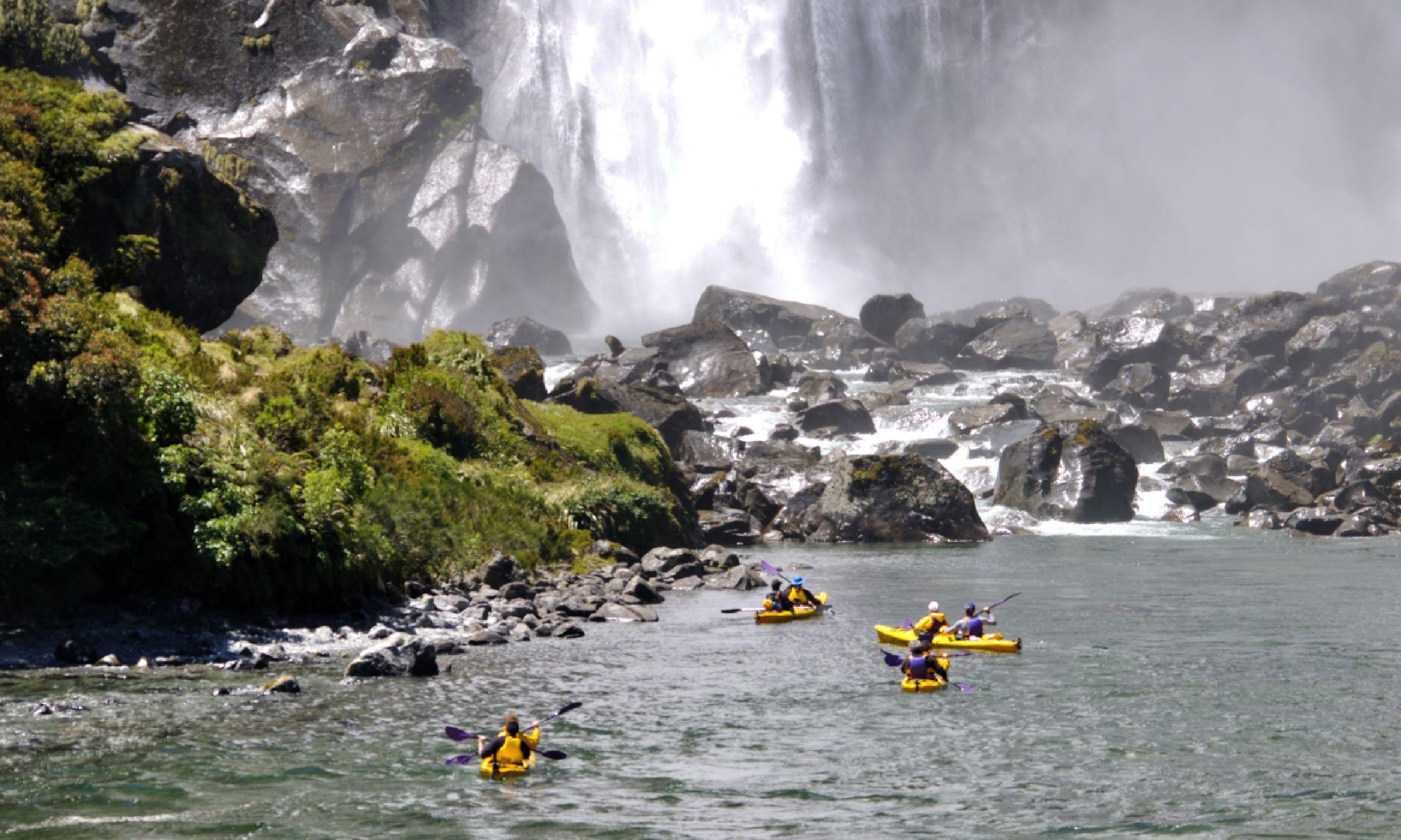 Kayaking at Milford Sound, New Zealand (Shutterstock)