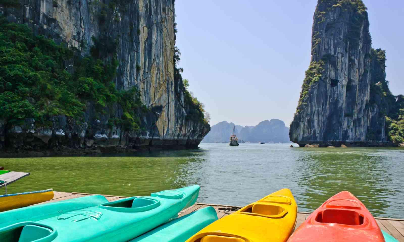 Kayaks at Halong Bay (Shutterstock)